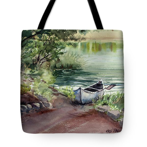 Tote Bag featuring the painting Lake Dreams by Kris Parins