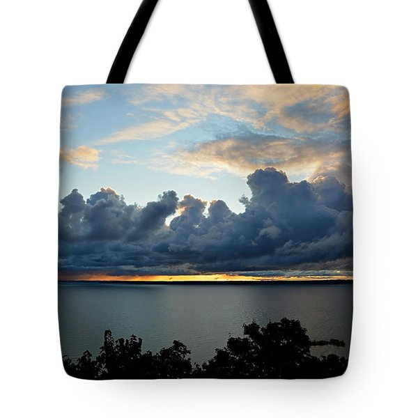 Tote Bag featuring the photograph Lake Effect Sky by SimplyCMB