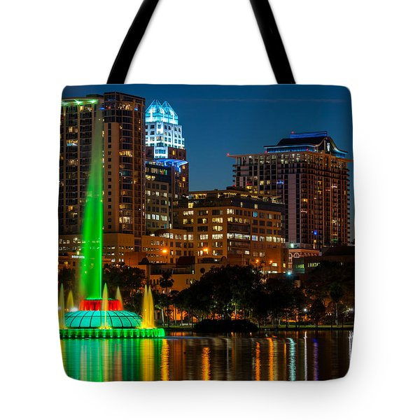 Lake Eola Fountain Tote Bag