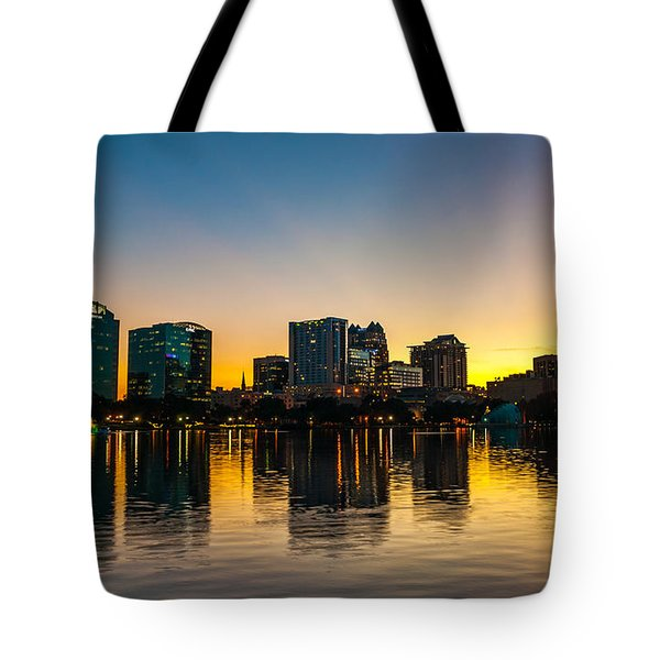 Lake Eola Sunset Tote Bag