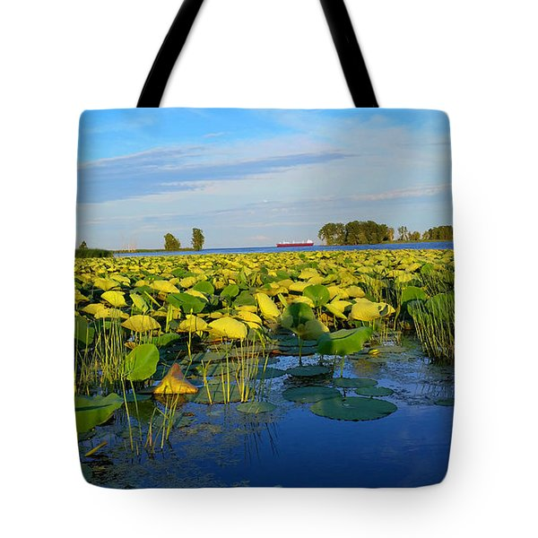 Pointe Mouilee Lake Erie Tote Bag