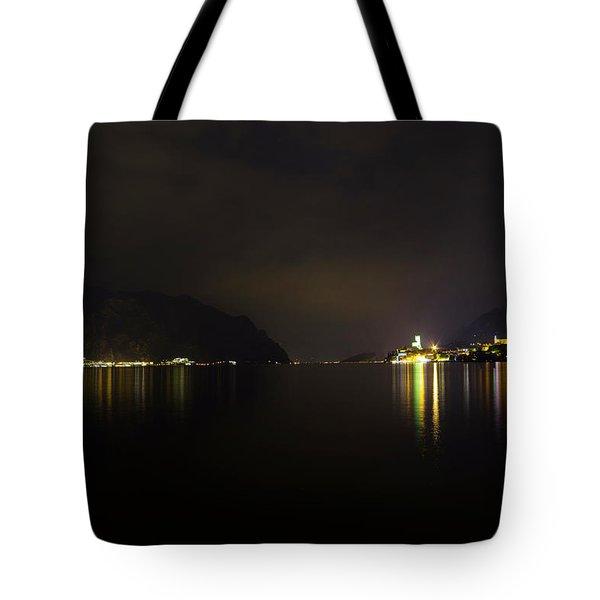 Lake Front At Night, Malcesine, Lake Garda Tote Bag