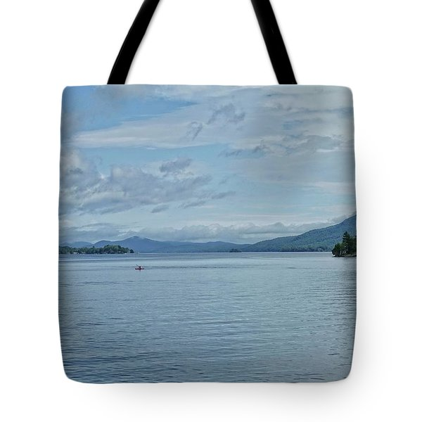 Lake George Kayaker Tote Bag