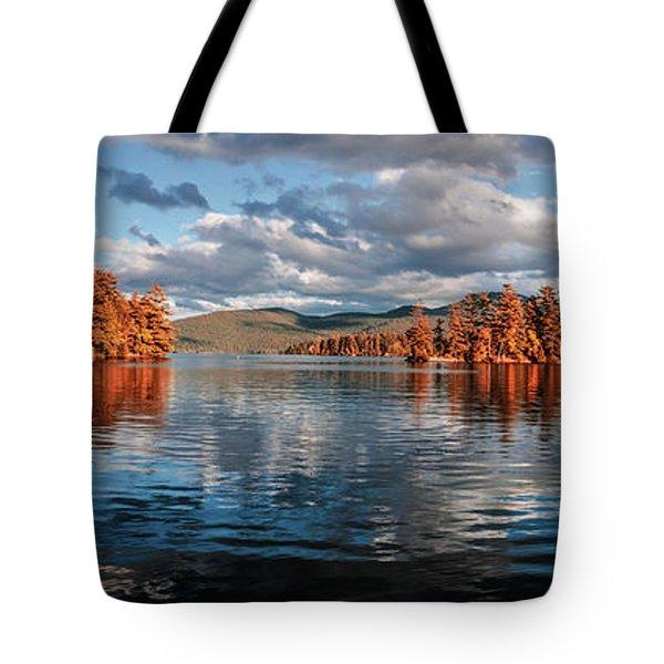 Lake George Panorama  Tote Bag