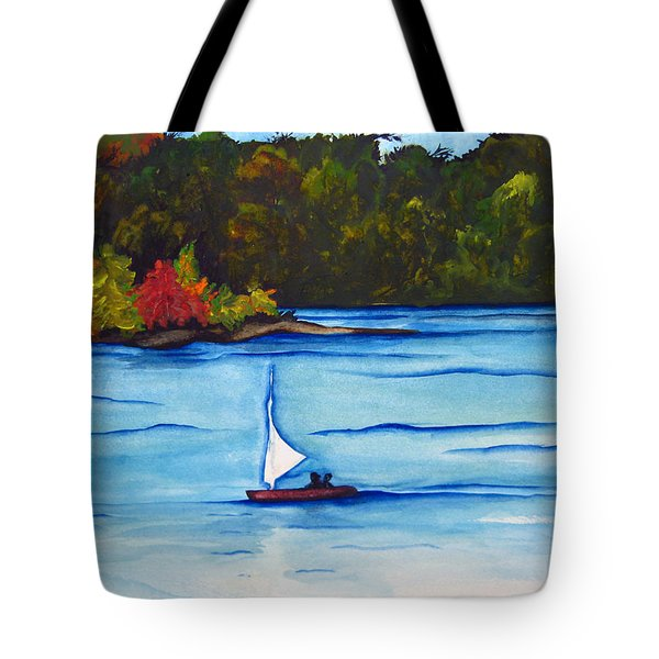 Lake Glenville  Sold Tote Bag by Lil Taylor