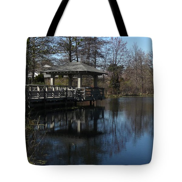 Lake House Terrace Tote Bag