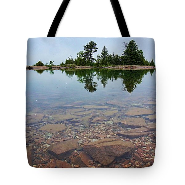Lake Huron Island Tote Bag