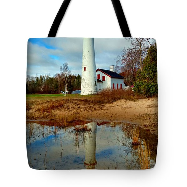 Lake Huron Lighthouse Tote Bag