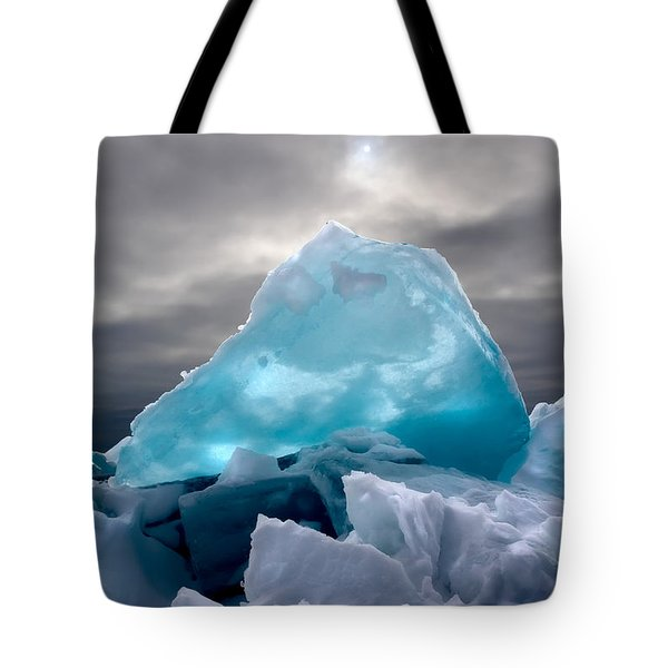 Lake Ice Berg Tote Bag