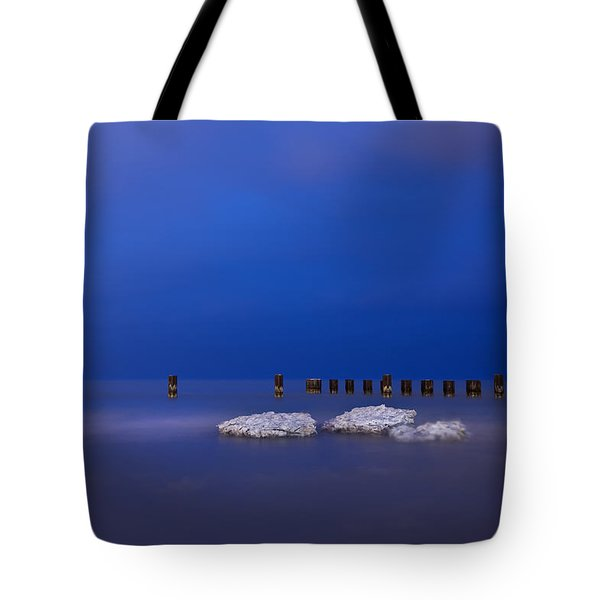 Lake Ice Chicago Tote Bag by Steve Gadomski