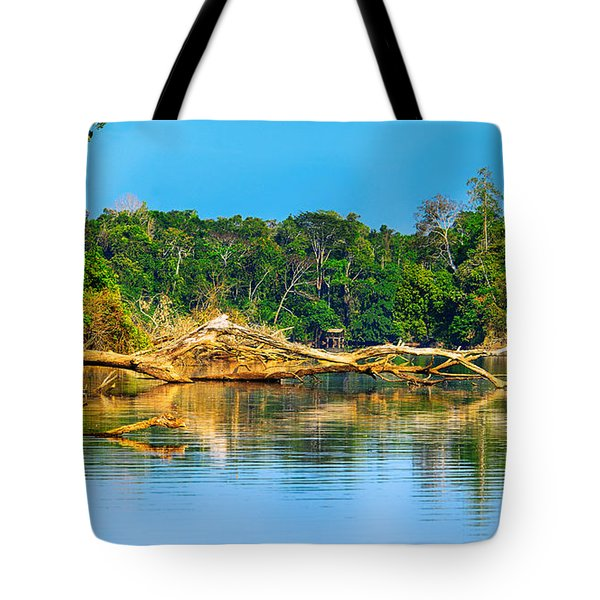 Lake In A Jungle Tote Bag