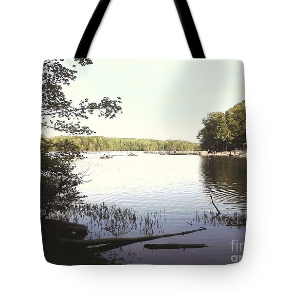 Lake At Burke Va Park Tote Bag