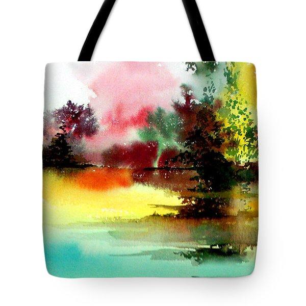 Lake In Colours Tote Bag
