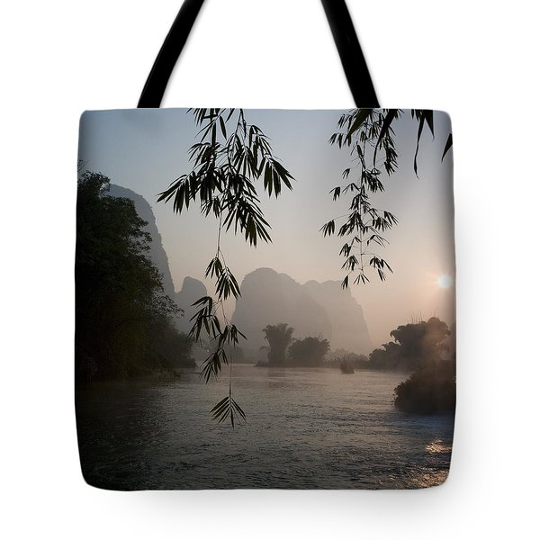 Lake In Mountain Area Tote Bag by Keith Levit