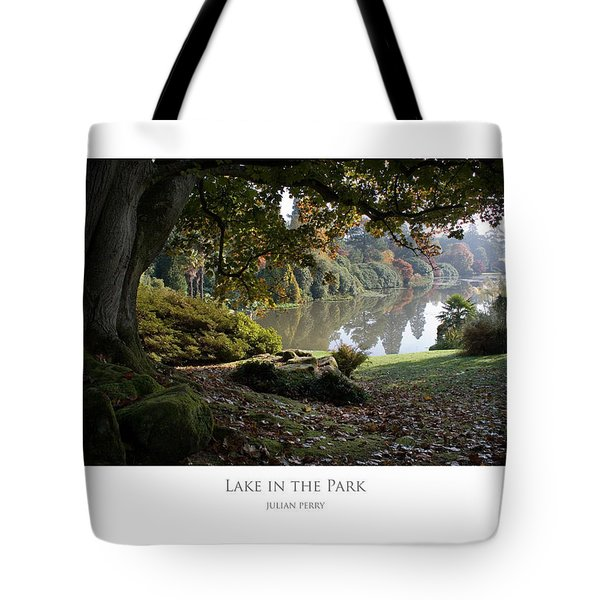 Tote Bag featuring the digital art Lake In The Park by Julian Perry
