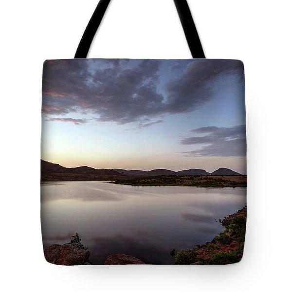 Lake In The Wichita Mountains  Tote Bag