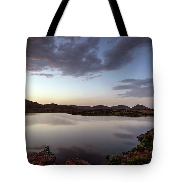 Lake In The Wichita Mountains  Tote Bag