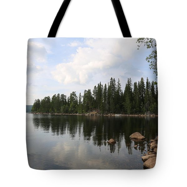 Lake In The Woods Tote Bag