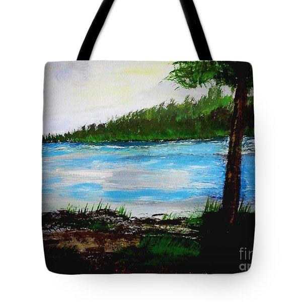 Lake In Virginia The Painting Tote Bag