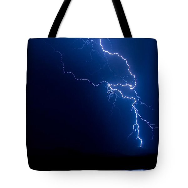 Lake Lightning Strike Tote Bag