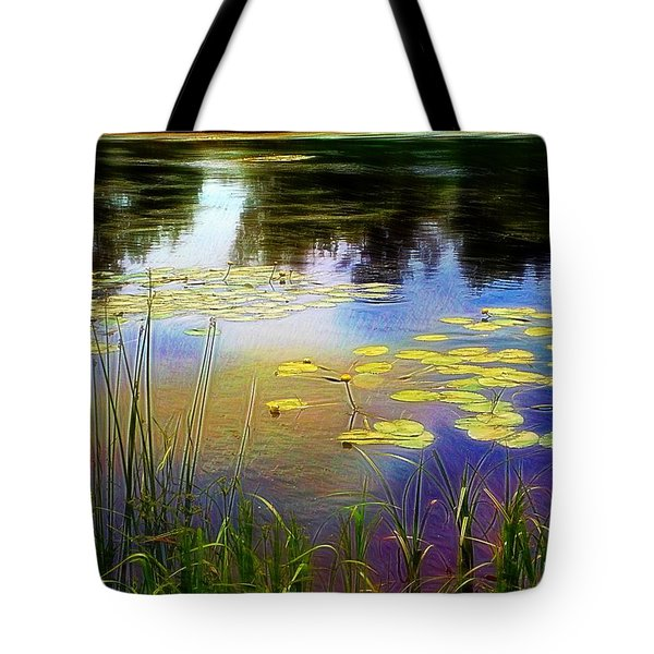 Lake Lilly Monet Style Tote Bag by Louise Lavallee