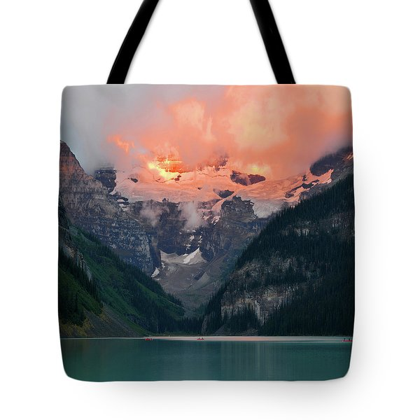 Tote Bag featuring the photograph Lake Louise 1 by Yue Wang