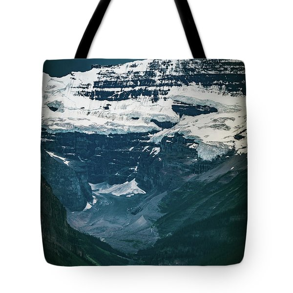 Tote Bag featuring the photograph Lake Louise At Distance by William Lee