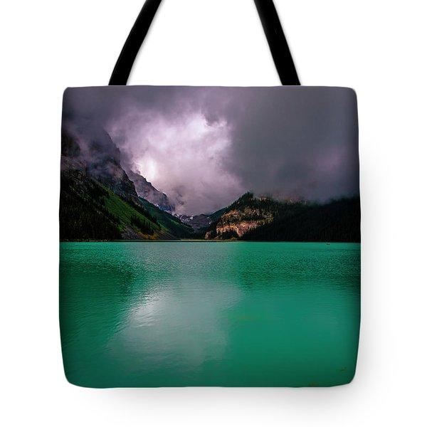 Lake Louise Before Storm Tote Bag