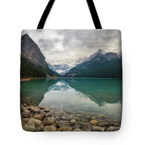 Lake Louise In The Fall Tote Bag