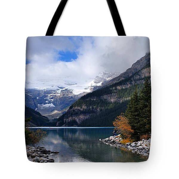 Lake Louise Tote Bag by Larry Ricker