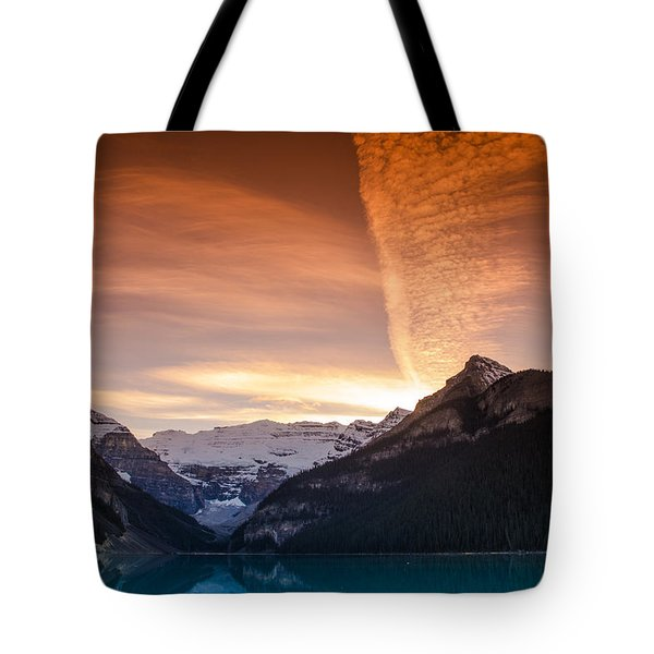 Lake Louise Sunset Tote Bag