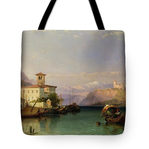 Lake Maggiore Tote Bag by George Edwards Hering