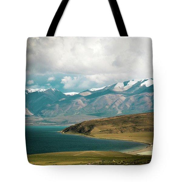 Lake Manasarovar Kailas Yantra.lv Tibet Tote Bag