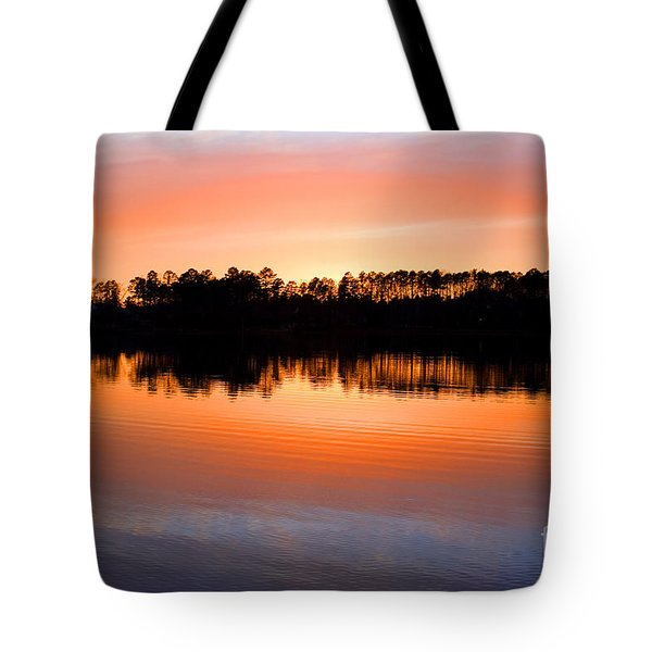 Lake Maumelle Sunset Tote Bag