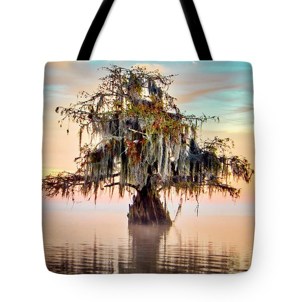 Lake Maurepas In Pastels Tote Bag