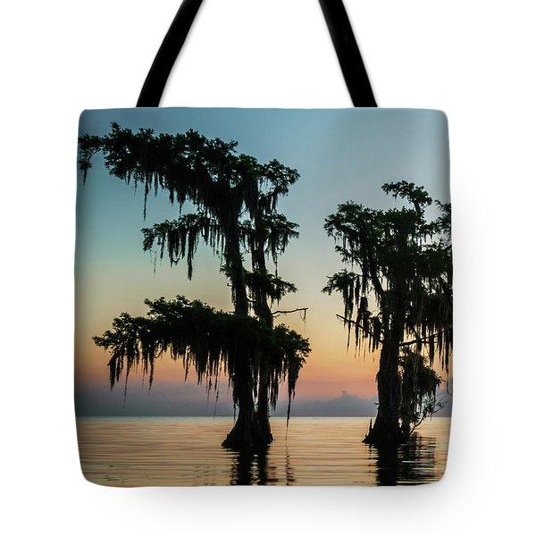 Lake Maurepas Sunrise Triptych No 3 Tote Bag