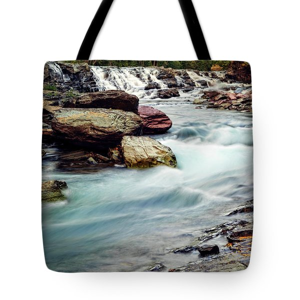 Lake Mcdonald Falls, Glacier National Park, Montana Tote Bag