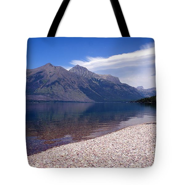 Lake Mcdonald Reflection Glacier National Park 4 Tote Bag by Marty Koch