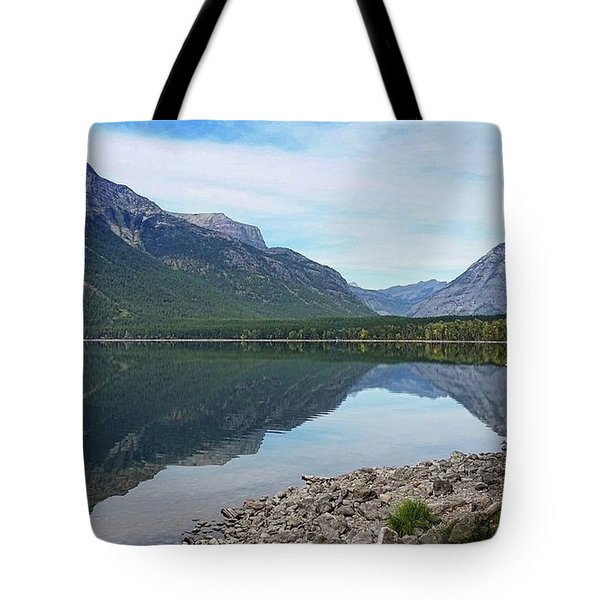 Lake Mcdonald Reflection Tote Bag