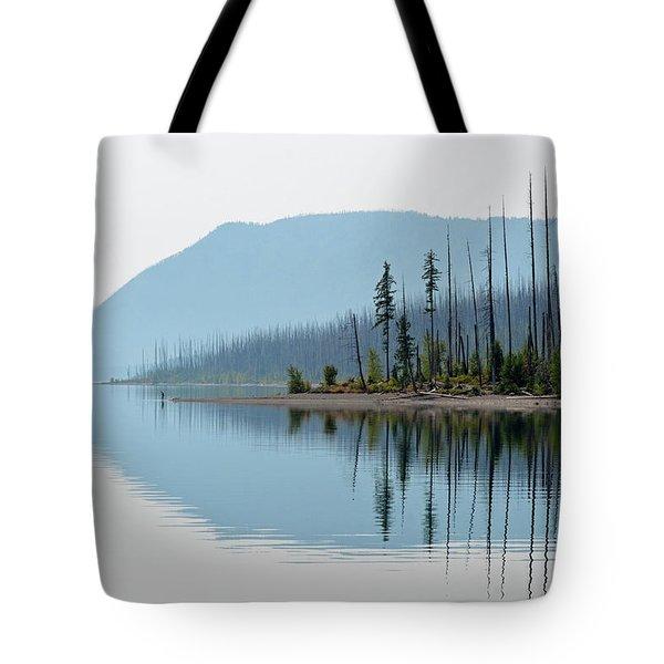 Lake Mcdonald Twin Reflections Tote Bag