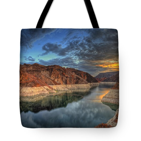 Lake Mead Sunrise Tote Bag
