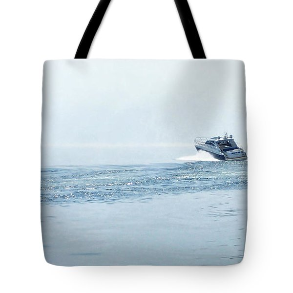 Tote Bag featuring the photograph Lake Michigan Boating by Lars Lentz