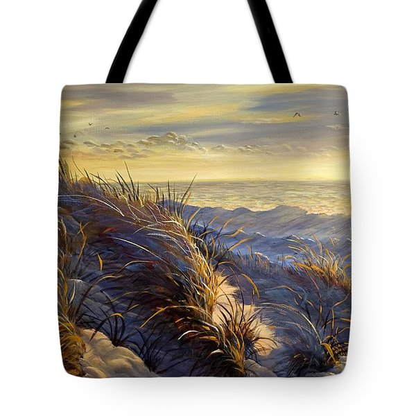 Lake Michigan In Winter Tote Bag