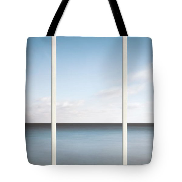 Lake Michigan Minimalist Triptych Tote Bag