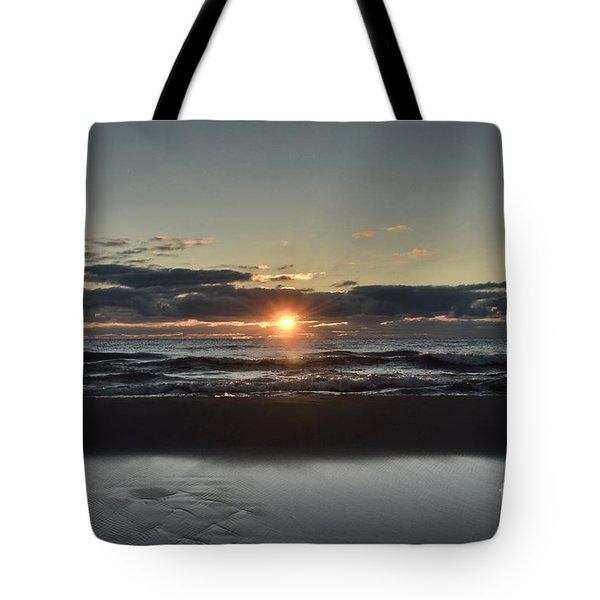Lake Michigan Sunrise Tote Bag