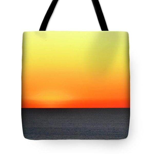 Lake Michigan Sunrise Tote Bag by Zawhaus Photography