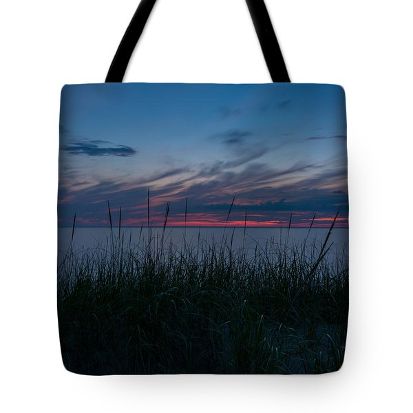 Lake Michigan Sunset 1 Tote Bag