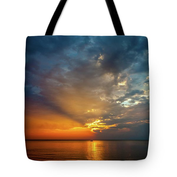 Lake Michigan Sunset Tote Bag