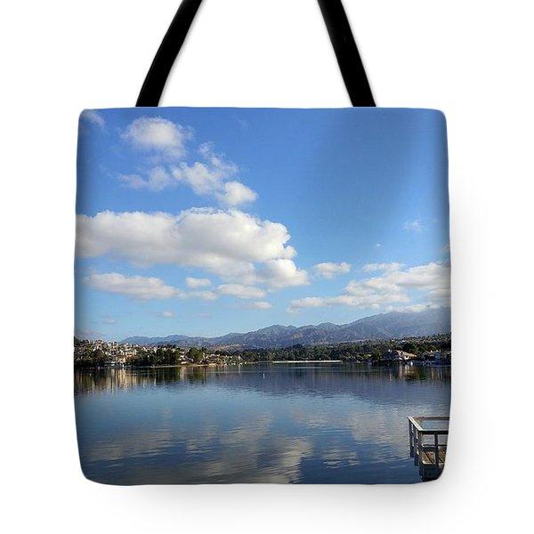 Lake Mission Viejo Cloud Reflections Tote Bag