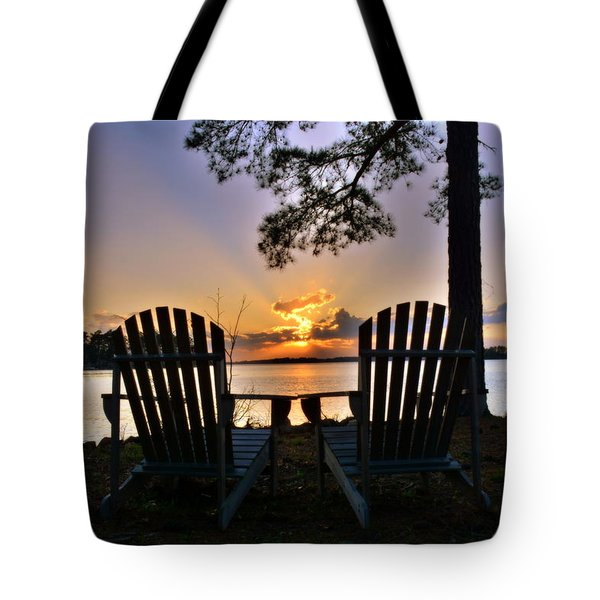 Tote Bag featuring the photograph Lake Murray Relaxation by Lisa Wooten